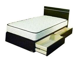 東京ベッド TOKYO BED 【フレーム&マットレス】収納付き フィールII + 5.5インチハードポケットセット(ダブルサイズ)【日本製】 【代金引換配送不可】