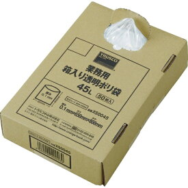 トラスコ中山 TRUSCO まとめ売り 業務用ポリ袋 透明・箱入 0.1×45L  (50枚入)