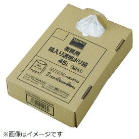 トラスコ中山 TRUSCO まとめ売り 業務用ポリ袋 透明・箱入 0.1×90L  (50枚入)