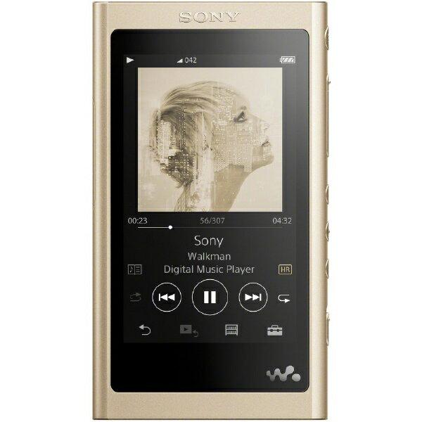 【送料無料】 ソニー SONY ハイレゾウォークマン WALKMAN Aシリーズ 2018年モデル[カナル型イヤホン付属] NW-A56HN NM ペールゴールド [32GB /ハイレゾ対応]