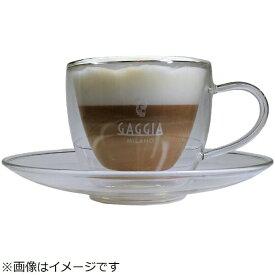 Gaggia Gaggia特製ガラス製コーヒー / カプチーノカップ&ソーサー CAPP2[CAPP2]