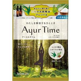 バスクリン BATHCLIN Ayur Time(アーユルタイム)ユーカリ&シダーウッドの香り(40g)[入浴剤]