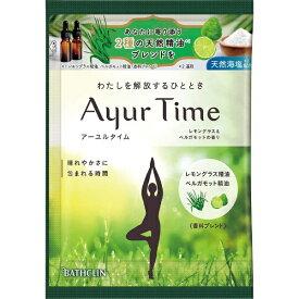 バスクリン BATHCLIN Ayur Time(アーユルタイム)レモングラス&ベルガモットの香り(40g)[入浴剤]