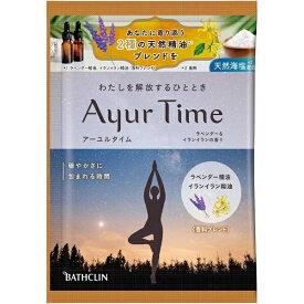 バスクリン BATHCLIN Ayur Time(アーユルタイム)ラベンダー&イランイランの香り(40g)[入浴剤]