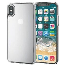 エレコム ELECOM iPhone XS 5.8インチ用 フレックスシェルカバー TR-90 PM-A18BTRCR