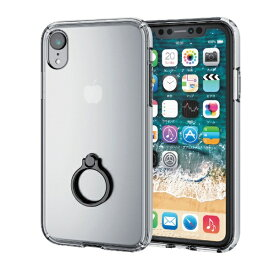 エレコム ELECOM iPhone XR 6.1インチ用 ハイブリッドケース リング付 PM-A18CHVCRBK