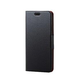 エレコム ELECOM iPhone XR 6.1インチ用 ソフトレザーカバー 薄型 磁石付 PM-A18CPLFUBK