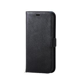 エレコム ELECOM iPhone XR 6.1インチ用 ソフトレザーカバー 磁石付 PM-A18CPLFYBK
