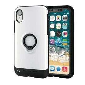 エレコム ELECOM iPhone XR 6.1インチ用 TOUGH SLIM リング付 PM-A18CTSRWH