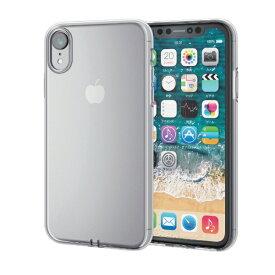 エレコム ELECOM iPhone XR 6.1インチ用 ソフトケース 極み PM-A18CUCTCR
