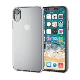 エレコム ELECOM iPhone XR 6.1インチ用 ソフトケース 薄型 PM-A18CUCUCR