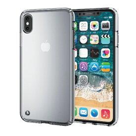 エレコム ELECOM iPhone XS Max 6.5インチ用 ハイブリッドケース PM-A18DHVCCR