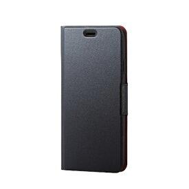 エレコム ELECOM iPhone XS Max 6.5インチ用 ソフトレザーカバー 薄型 磁石付 PM-A18DPLFUBK