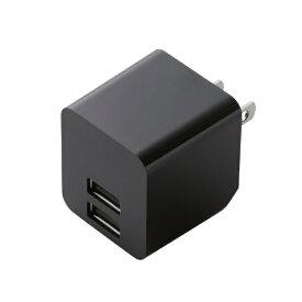 エレコム ELECOM スマホ用USB充電コンセントアダプタ 2.4A出力 ブラック MPA-ACUEN000XBK [2ポート /Smart IC対応]