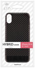 OWLTECH オウルテック iPhone XR 6.1インチ対応ハイブリッドケースカーボン調ブラック OWL-CVIA6109-CBBK