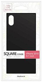 OWLTECH オウルテック iPhone XR 6.1インチ対応 背面強化ガラスハイブリットケース アイスブラック OWL-CVIA6117-BK