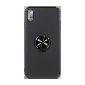 OWLTECH オウルテック iPhone XS Max 6.5インチ対応リング付背面ケースブラック OWL-CVIA6512-BK