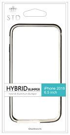 OWLTECH オウルテック iPhone XS Max 6.5インチ対応 ハイブリッド+アルミニウムバンパー ブラック OWL-CVIA6514-BK