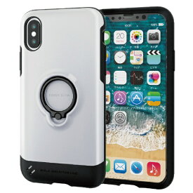 エレコム ELECOM iPhone XS 5.8インチ用 TOUGH SLIM リング付 PM-A18BTSRWH
