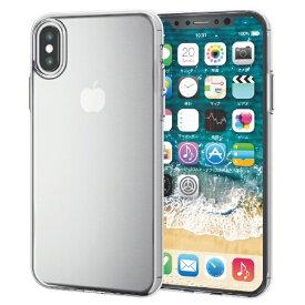 エレコム ELECOM iPhone XS 5.8インチ用 ソフトケース 薄型 PM-A18BUCUCR