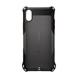 エレコム ELECOM iPhone XS 5.8インチ用 ZEROSHOCK スタンダード PM-A18BZEROBK