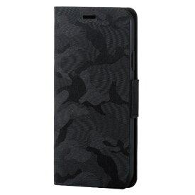 エレコム ELECOM iPhone XS 5.8インチ用 ファブリックカバー 手帳型 カモフラ PM-A18BPLFUCFBK