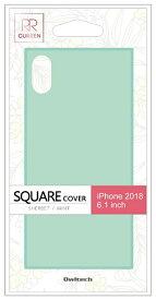 OWLTECH オウルテック iPhone XR 6.1インチ対応 背面強化ガラスハイブリットケース ミント OWL-CVIA6117-MT