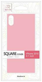 OWLTECH オウルテック iPhone XR 6.1インチ対応 背面強化ガラスハイブリットケース ピーチ OWL-CVIA6117-PH