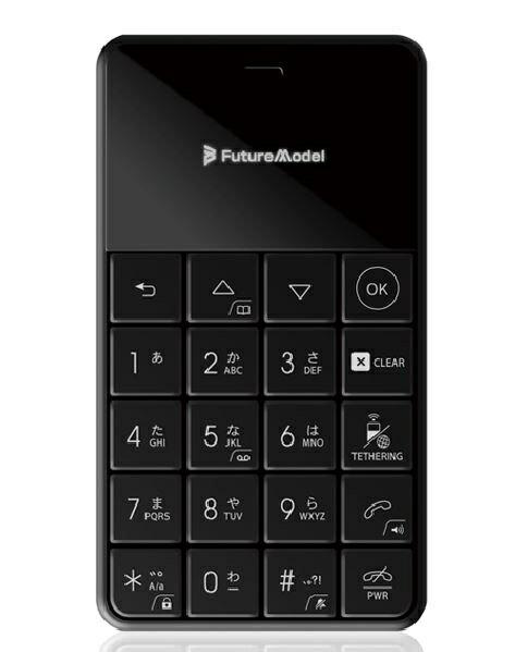 フューチャーモデル Future Model FutureModel フューチャーモデル NichePhone-S-4G ブラック「MOB-N18-01BK」nanoSIM ドコモ/ソフトバンクSIM対応 SIMフリー携帯電話[MOBN1801BK]