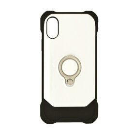 ラスタバナナ RastaBanana iPhone XR 6.1インチ用 リングスタンドTPU+PCハイブリッドケース 4246IP861HB ホワイト