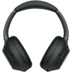 ソニー SONY ブルートゥースヘッドホン ブラック WH-1000XM3 [リモコン・マイク対応 /Bluetooth /ハイレゾ対応 /ノイズキャンセリング対応][ワイヤレス ヘッドホン WH1000XM3BM]