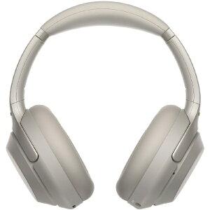 ソニー SONY ブルートゥースヘッドホン プラチナシルバー WH-1000XM3 [リモコン・マイク対応 /Bluetooth /ハイレゾ対応 /ノイズキャンセリング対応][ワイヤレスヘッドホン WH1000XM3SM]