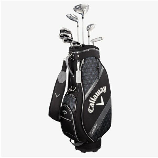 キャロウェイ Callaway レディース ゴルフクラブセット ソレイル パッケージセット ブラック 8本セット《キャディバッグ付/W#1、W#5、6H、Ir#7、Ir#9、PW、SW、PT》[SOLAR18BLK]