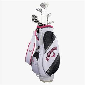 キャロウェイ Callaway レディース ゴルフクラブセット ソレイル パッケージセット ピンク《キャディバッグ付//W#1、W#5、6H、Ir#7、Ir#9、PW、SW、PT》L[SOLAR18BLSM]