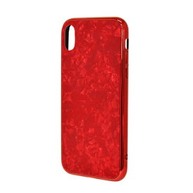 ラスタバナナ RastaBanana iPhone XR 6.1インチ用 TPUメタルフレーム+Shell柄ガラス 4359IP861HB レッド