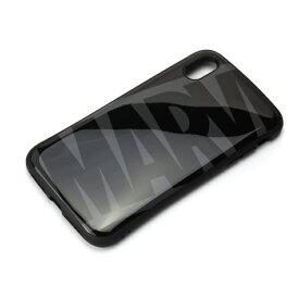 PGA iPhone XS Max 6.5インチ用 ハイブリッドタフケース PG-DCS533MVL ロゴ ブラック&グレー