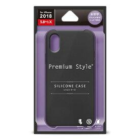PGA iPhone XS 5.8インチ用 シリコンケース ブラック PG-18XSC01BK ブラック