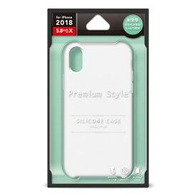 PGA iPhone XS 5.8インチ用 シリコンケース ホワイト PG-18XSC02WH ホワイト