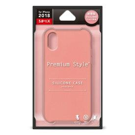 PGA iPhone XS 5.8インチ用 シリコンケース ピンク PG-18XSC03PK ピンク