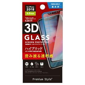 PGA iPhone XS Max 6.5インチ用 液晶保護ガラス PG-18ZGL07 3Dハイブリッドガラス クリア