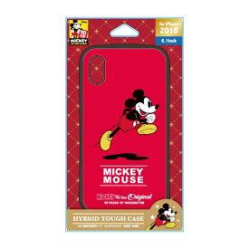 PGA iPhone XR 6.1インチ用 ハイブリッドタフケース PG-D496MKY ミッキーマウス レッド