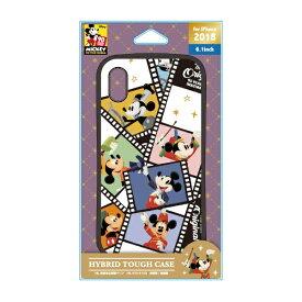 PGA iPhone XR 6.1インチ用 ハイブリッドタフケース PG-DCS482M9N ミッキーマウス フィルム