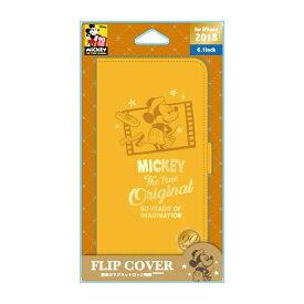 PGA iPhone XR 6.1インチ用  フリップカバー ミッキーマウス オレンジ PG-DFP486M9O ミッキーマウス オレンジ
