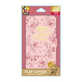 PGA iPhone XS 5.8インチ用 フリップカバー ミッキーマウス ピンク PG-DFP542M9P ミッキーマウス ピンク