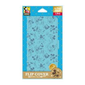 PGA iPhone XS 5.8インチ用 フリップカバー ミッキーマウス ブルー PG-DFP545M9L ミッキーマウス ブルー
