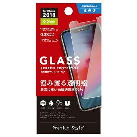 PGA iPhone XS Max 6.5インチ用 液晶保護ガラス PG-18ZGL01 スーパークリア