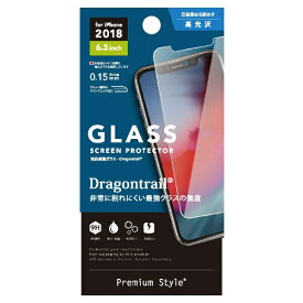 PGA iPhone XS Max 6.5インチ用 液晶保護ガラス PG-18ZGL06 ドラゴントレイル
