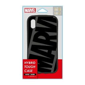 PGA iPhone XS 5.8インチ用 ハイブリッドタフケース PG-DCS560MVL ロゴ ブラック グレー