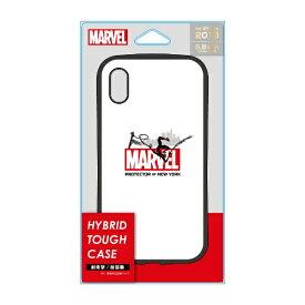 PGA iPhone XS 5.8インチ用 ハイブリッドタフケース PG-DCS562SPM スパイダーマン ホワイト
