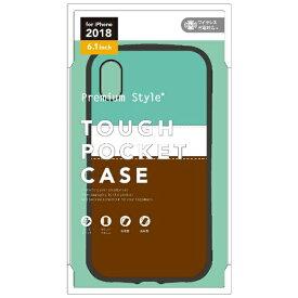 PGA iPhone XR 6.1インチ用 タフポケットケース チョコミント PG-18YPT07GR チョコミント